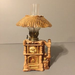 "Other - Vintage 9.5"" grandfather clock oil lamp"